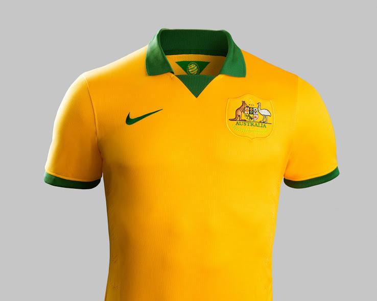 Camiseta de Australia para el Mundial de Brasil 2014