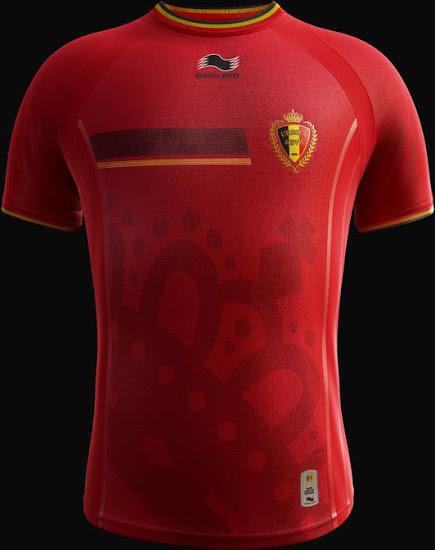 La camiseta de Bélgica para el Mundial de Brasil 2014