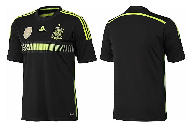 Camiseta suplente de España Mundial Brasil 2014