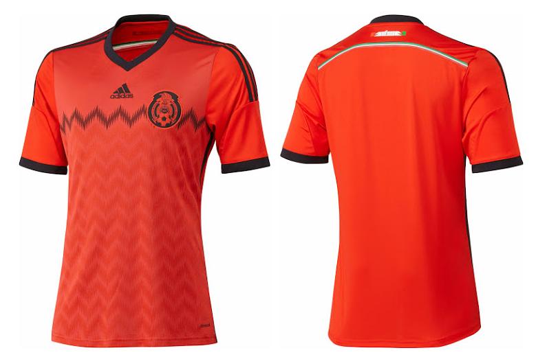 La camiseta suplente de México para el Mundial de Brasil 2014