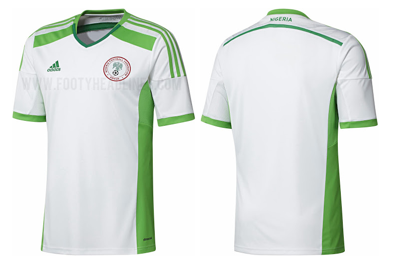La camiseta suplente de Nigeria para el Mundial de Brasil 2014