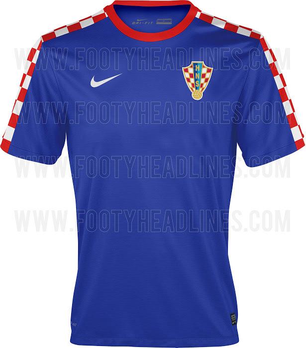 La camiseta suplente de Croacia para el Mundial de Brasil 2014