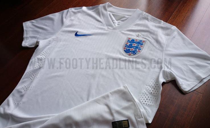 La camiseta de Inglaterra para el Mundial de Brasil 2014