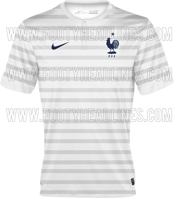 La camiseta suplente de Francia para el Mundial de Brasil 2014