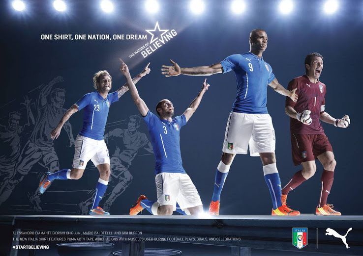 Puma anuncia la camiseta de Italia para el Mundial de Brasil 2014