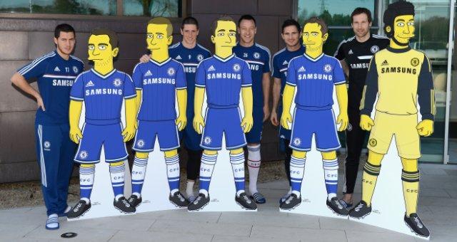 Los jugadores del Chelsea convertidos en Simpsons