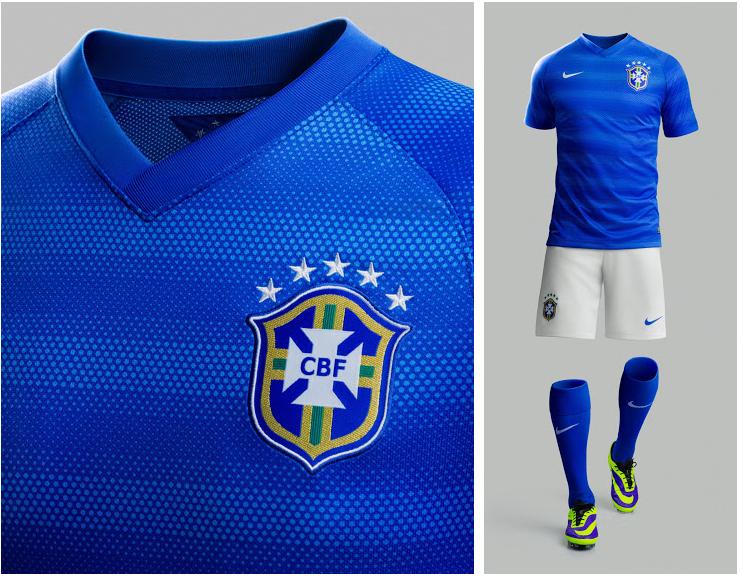 La camiseta de suplente Brasil para el Mundial 2014