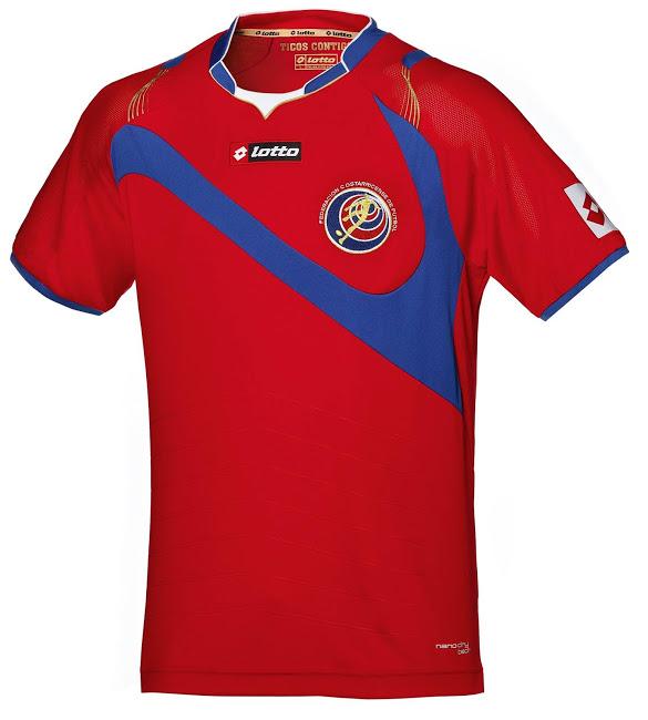 La camiseta de la Costa Rica para el Mundial de Brasil 2014