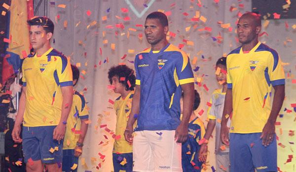 La camiseta de Ecuador para el Mundial de Brasil 2014