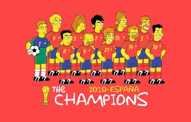 La Selección española en los Simpsons