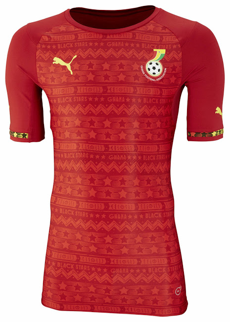 Las camisetas de Ghana en Mundial de Brasil 2014