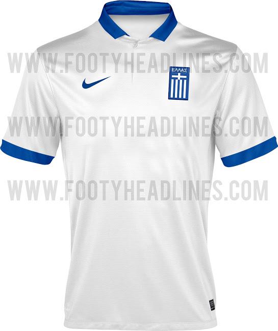 Camiseta de Grecia para el Mundial de Brasil 2014