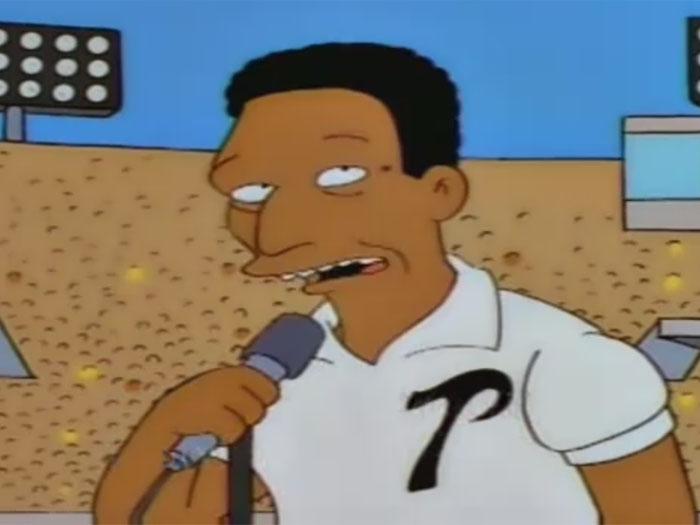 Pelé en los Simpsons