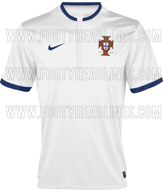 La camiseta suplente de Portugal para el Mundial de Brasil 2014