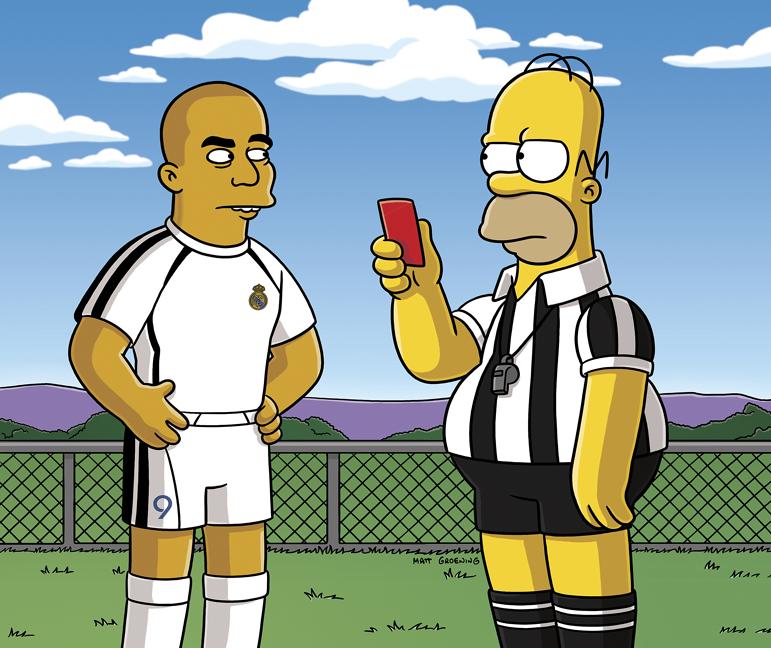 Ronaldo en los Simpsons