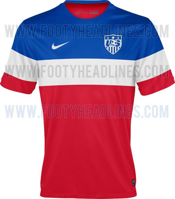 Camiseta suplente de Estados Unidos para el Mundial de Brasil 2014