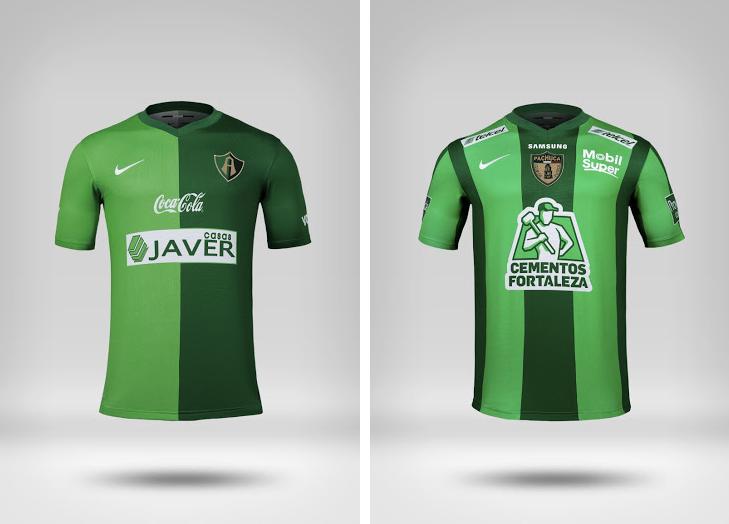 Camisetas verde de Atlas y Pachuca