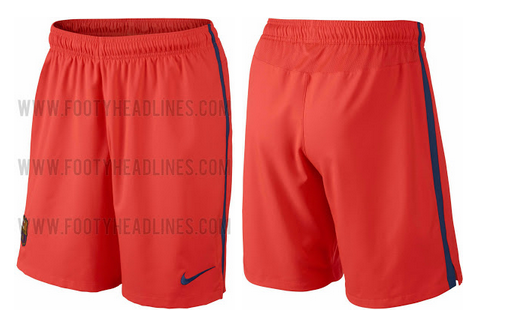 Pantalones suplente naranja del Barcelona 2014 - 2015