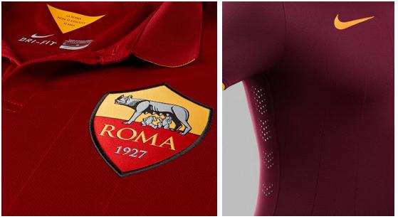 La camiseta Nike de la Roma para la temporada 2014 - 2015