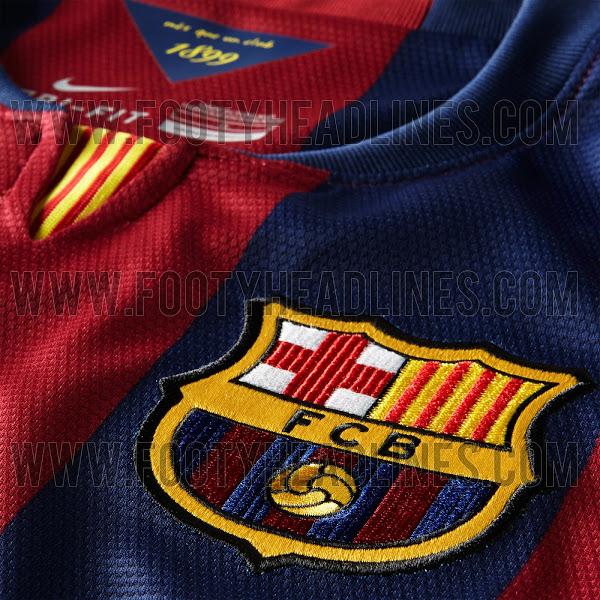 La nueva camiseta del Barcelona para la temporada 2014 - 2015