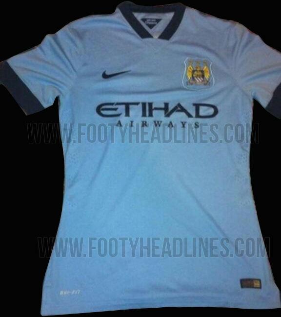 La camiseta del Manchester City para la temporada 2014 - 2015