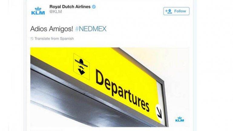 Burla de KLM a México
