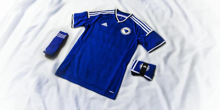 La camiseta de Bosnia para el Mundial de Brasil 2014