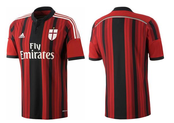 Camiseta del Milan para la temporada 2014 - 2015