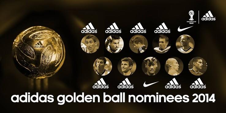 Nominados al Balón de Oro del Mundial de Brasil 2014