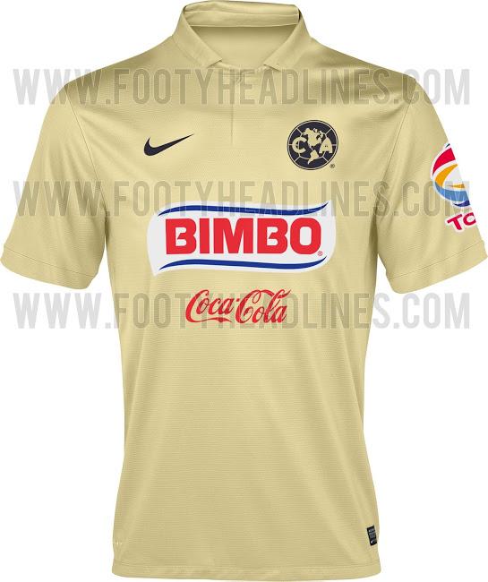 La camiseta del América para la temporada 2014 - 2015