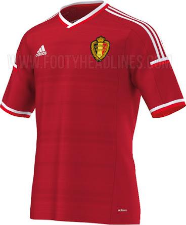 La nueva camiseta Adidas de Bélgica para clasificación a Eurocopa 2016