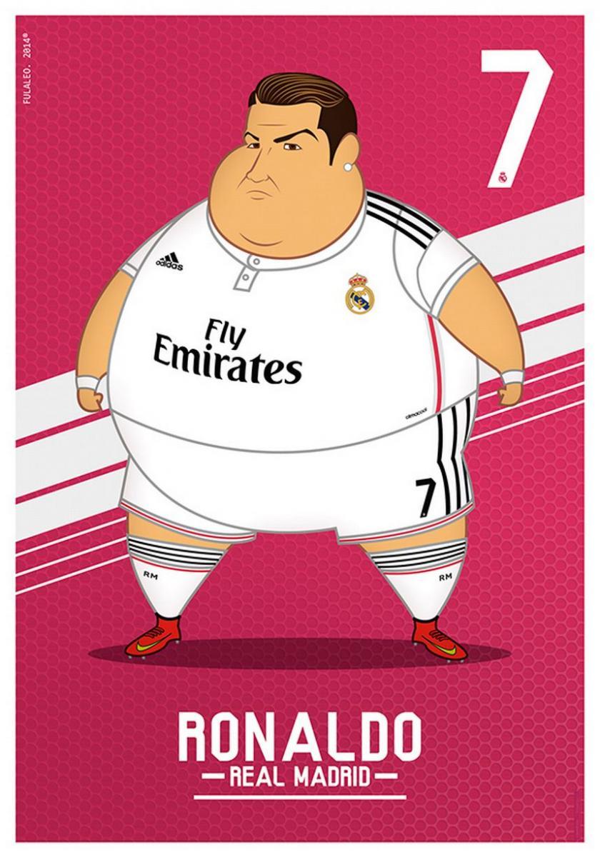 Cristiano Ronaldo gordo