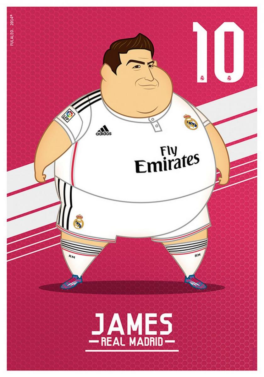 James Rodríguez gordo