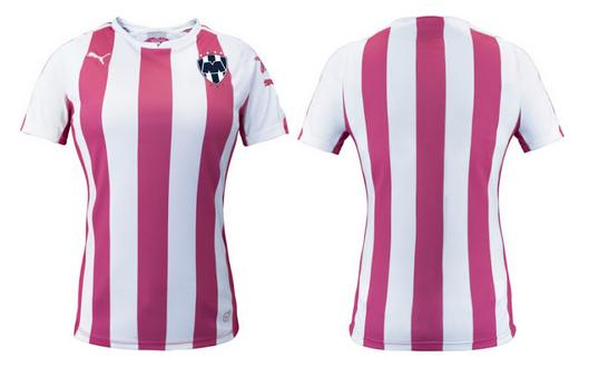 Monterrey lanza una camiseta rosa contra el cáncer de mama