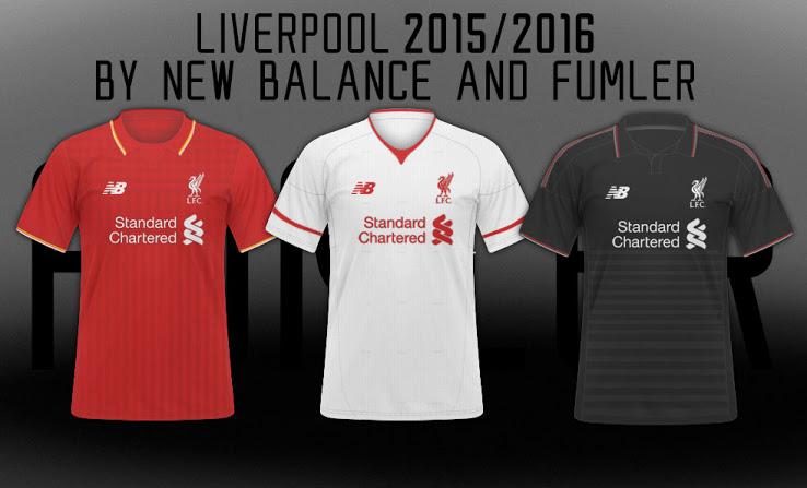 Nuevas camisetas del Liverpool New Balance para la temporada 2015 - 2016