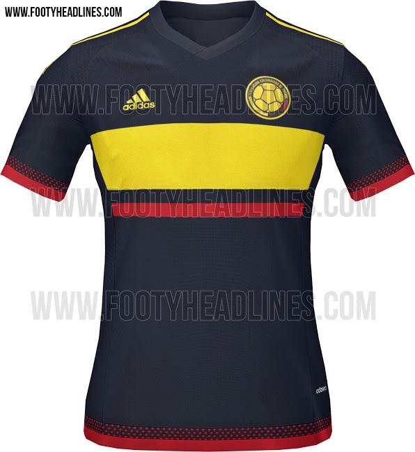 Camiseta suplente de Colombia para la Copa América 2015