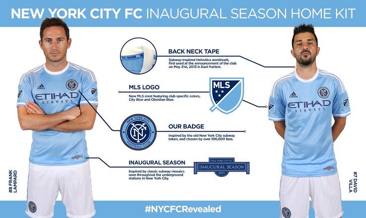 Jersey New York City FC David Villa Frank Lampard