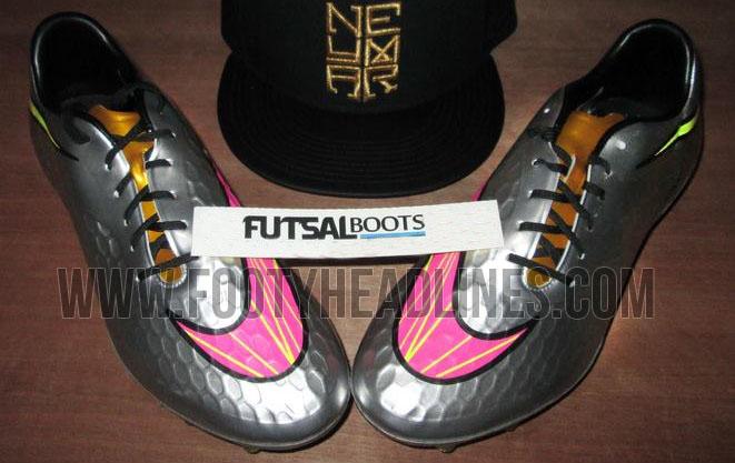 Las nuevas botas de Neymar: silver Nike Hypervenom Phantom
