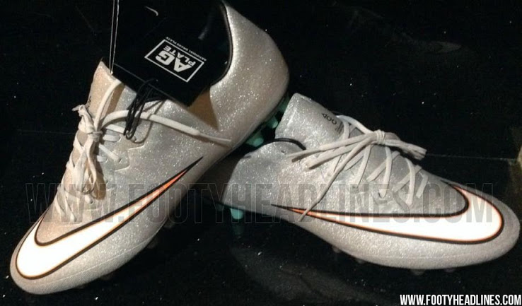 Nuevas botas de Cristiano Ronaldo 2015: SILVER NIKE MERCURIAL VAPOR X