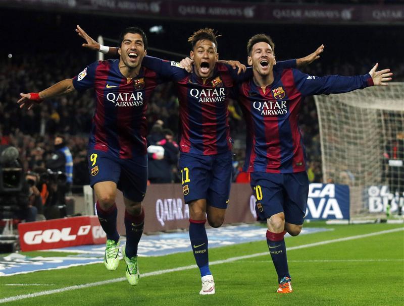 Leo Messi, Suárez y Messi en FP
