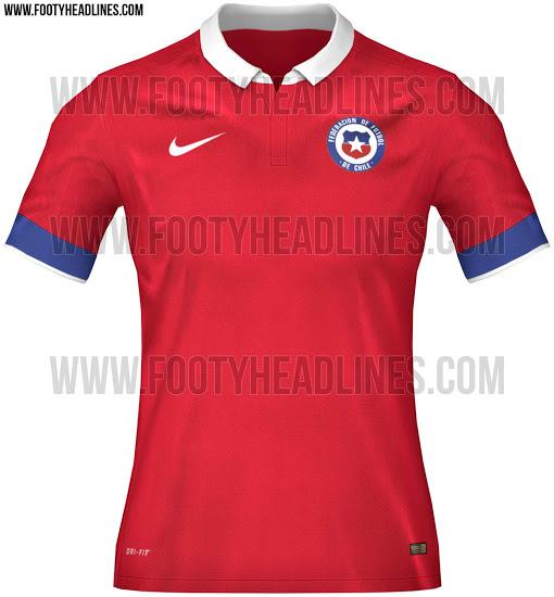 La camiseta de Chile para la Copa América 2015