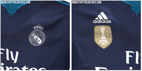 Tercera camiseta del Real Madrid para la temporada 2015 - 2016
