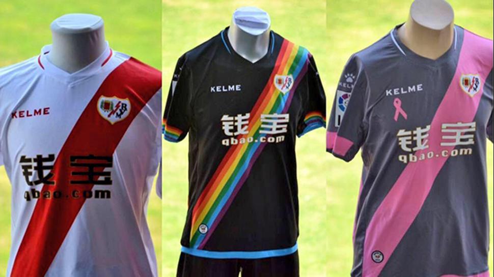 Camiseta de orgullo gay del Rayo Vallecano 2015 - 2016 0b67149b659