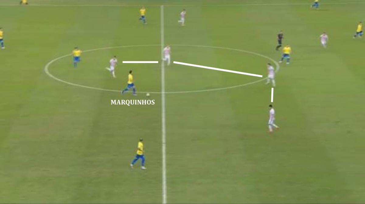 Paraguay liberó a los centrales brasileños pero complicaron cualquier intención de conectar en zona dos con Arthur, Coutinho y Firmino
