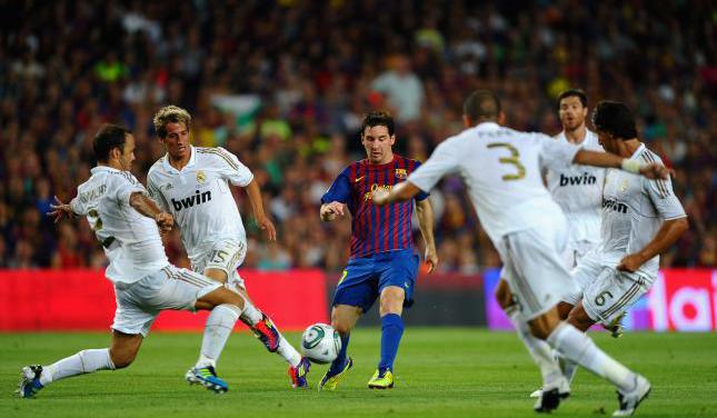 Leo Messi durante el último Clásico