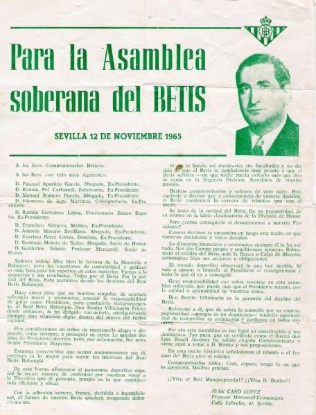 Carta Benito Villamarín