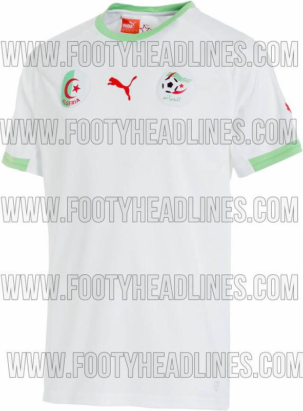 Camiseta de Argelia para el Mundial de Brasil 2014