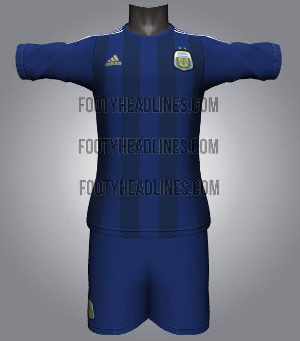 Camiseta suplente Argentina Mundial Brasil 2014