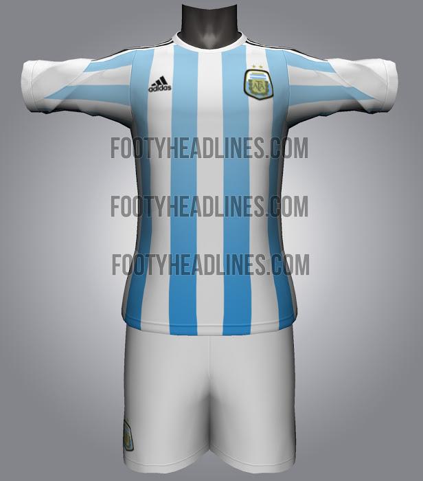 Camiseta de Argentina Mundial Brasil 2014