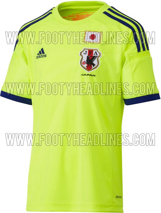 Camiseta suplente de Japón para el Mundial 2014